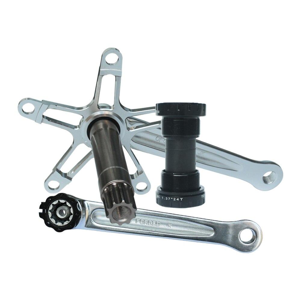 Chainring Folding Bike Crankset 170mm 130BCD Bottom Bracket Bike Crank Set