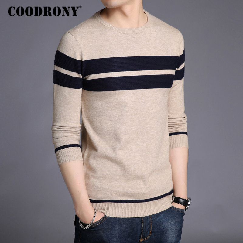 Image 2 - COODRONY Mens Knitted Cashmere Wool Sweaters 2019 Autumn Winter New Pullover Men Casual O Neck Jumper Sweater Men Pull Homme 217-in Pullovers from Men's Clothing