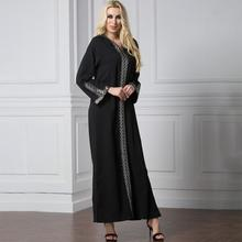 2019 New Yfashion Women Muslim Style Side Slit Fashion Gown Long Dress