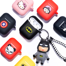 Cartoon Soft Silicone Bluetooth Earphone Case for Apple AirPods Ultra-thin Cute Protection Cover for AirPods Charging Box