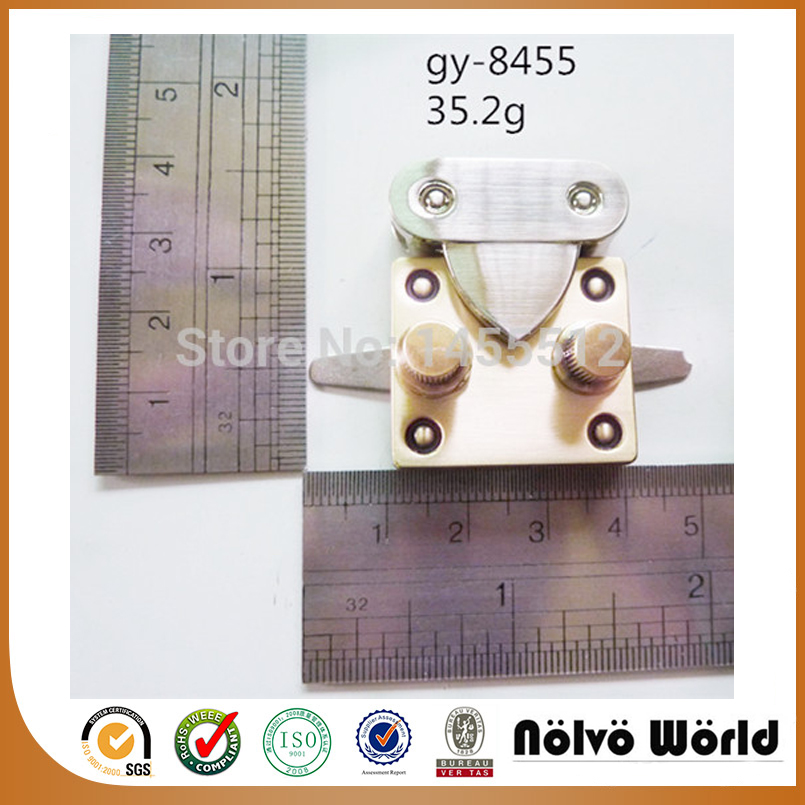 30 40mm zinc alloy brushed antique brass lock fashion hardware DIY handmade bag accessory locks