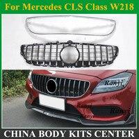 Для W218 amg GT решетка ABS решетка для Mercedes Benz CLS Class 2015 2019 Замена Передняя решетка
