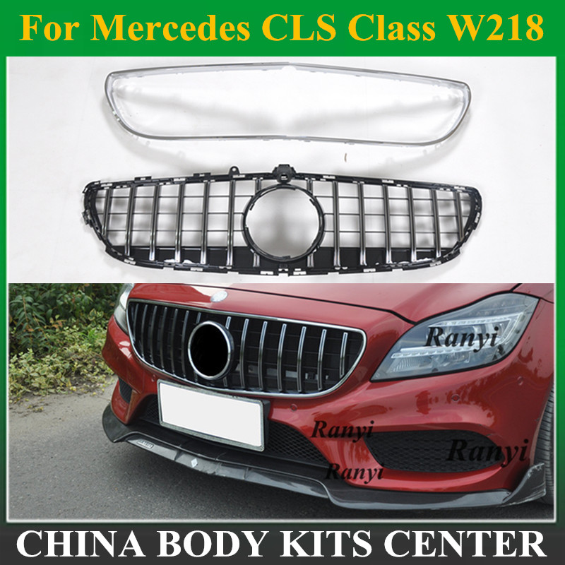 For <font><b>W218</b></font> amg GT <font><b>grill</b></font> ABS grille for Mercedes Benz CLS Class 2015-2019 Replacement front grille image