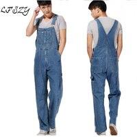 Hot 2019 Men's Plus Size Overalls Large Size Huge Denim Bib Pants Fashion Pocket Jumpsuits Male Free Shipping Brand