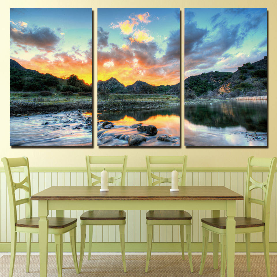 Modern Home Decor Framework Canvas Pictures HD Prints Posters 3 ...