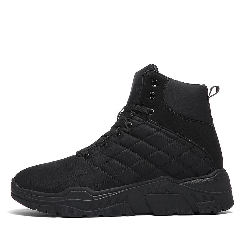 749350f146d5e Taille Tous Haute Mode Neige De Chaussures Plus En bleu D hiver Noir Hommes  Peluche 45 Doublé Coton 2018 Les Fourrure Top Bottes ...