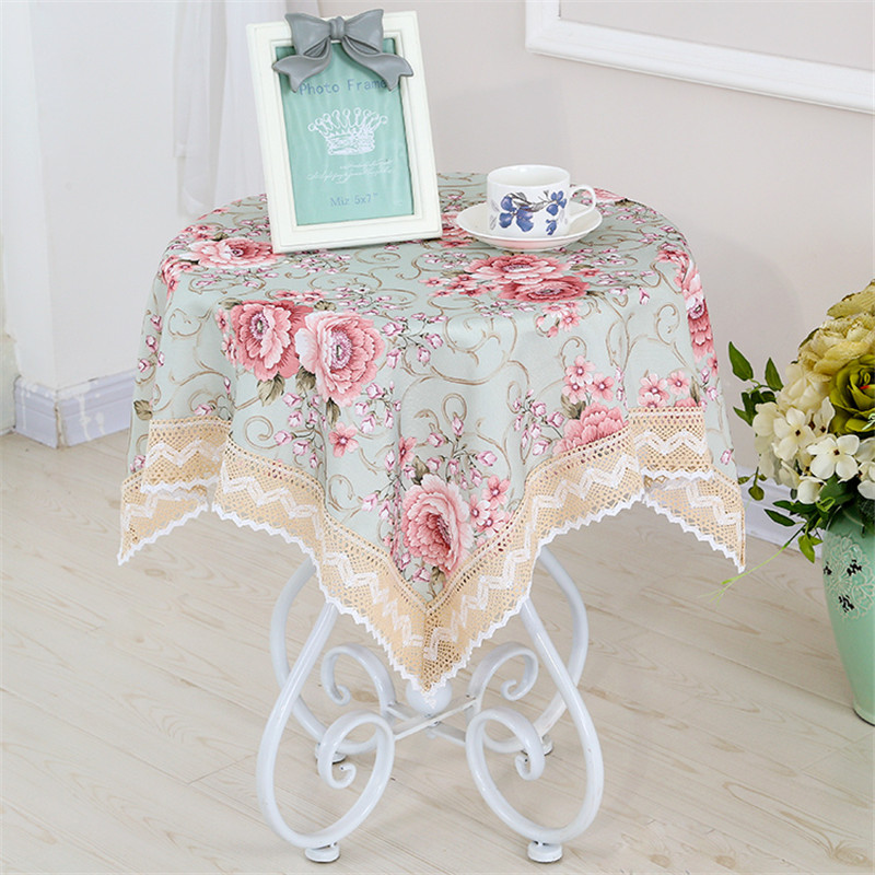 Tablecloth Square Coffee Table Fabric Linen Small Fresh Book Or Round Cloth Rectangular