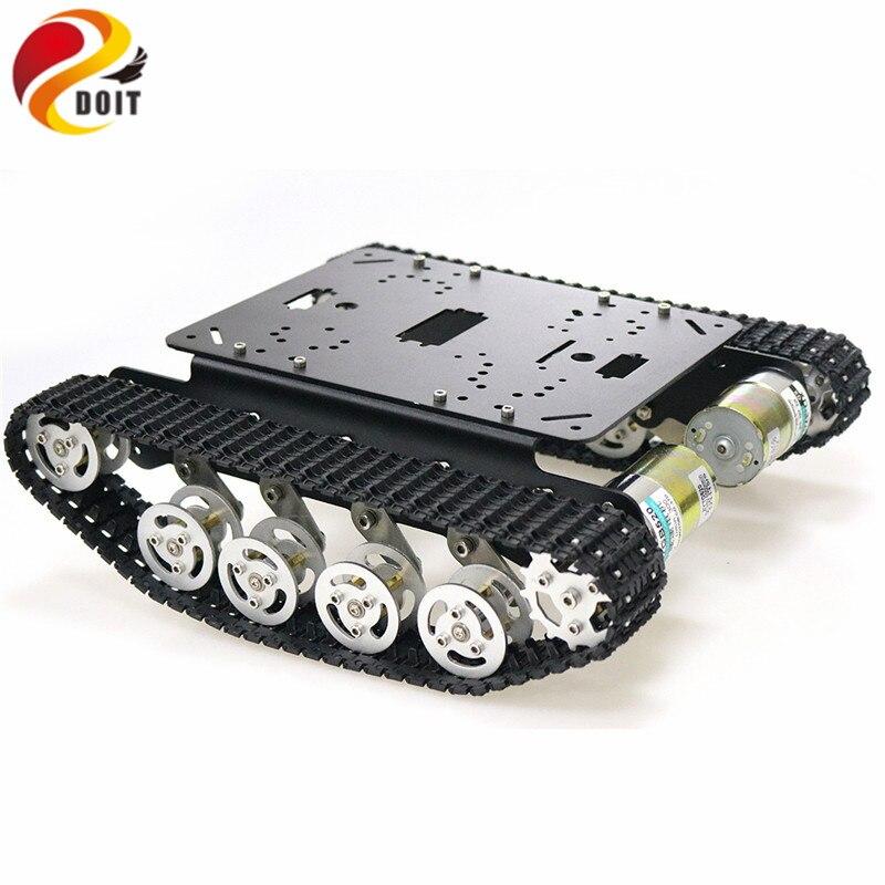 TS100 amortisseur métal Robot réservoir voiture Kit châssis pour Arduino uno r3 framboise chenilles chenille système de suspension - 2