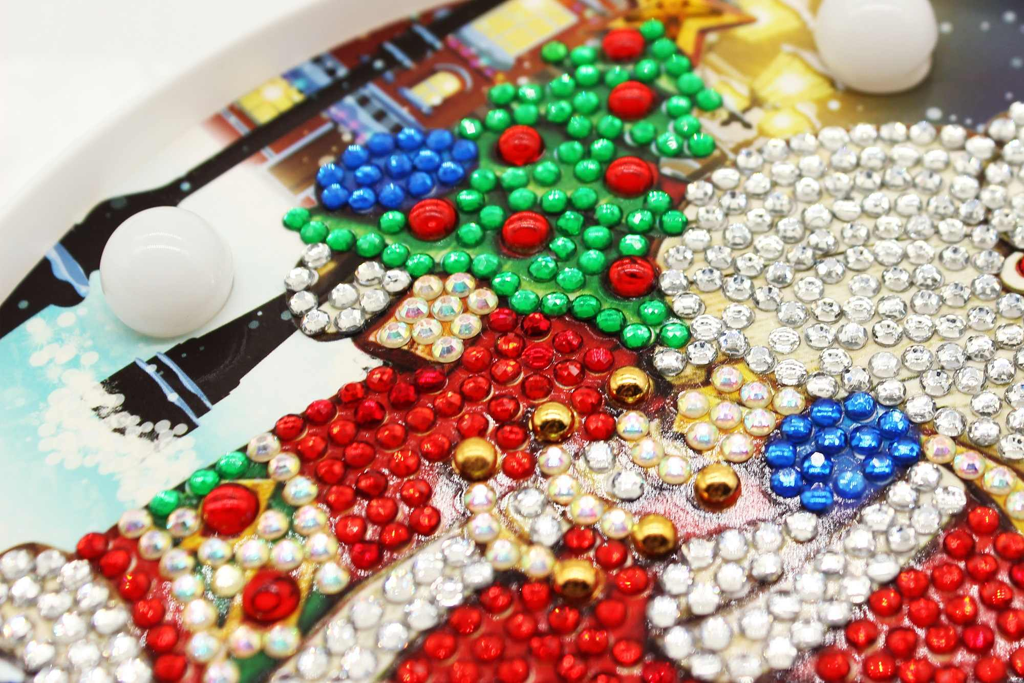 Hot Diy Diamond Embroidery Santa Claus Led Night Mini Light On Table Round Diamond Full Drill Christmas Gift For Friends ZXD050