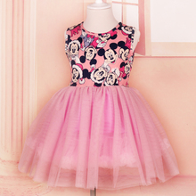 Girl Dress Kids Dresses For Girls Clothes Baby Girls Princess Birthday Party christmas Dresses Cute mickey/minnie mouse Dress