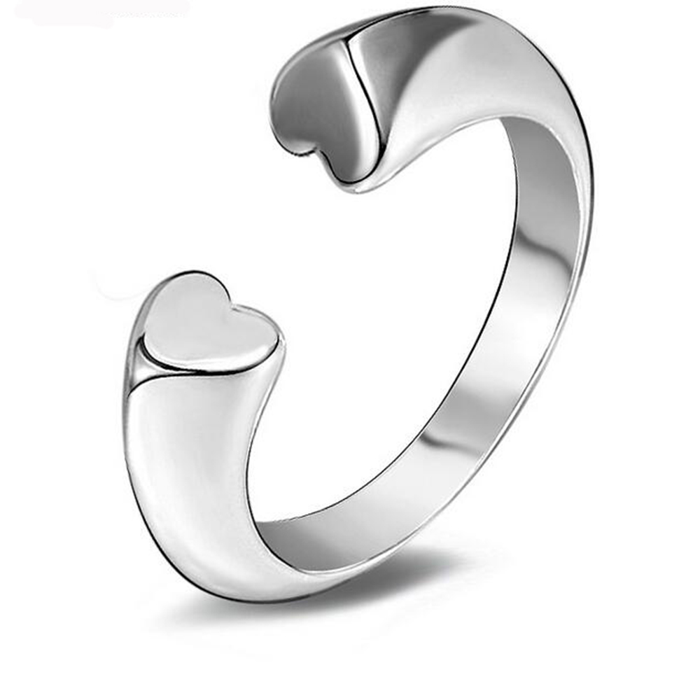 XIYANIKE New Design Love Ring For Women 2017 Big Brand Hot Sale Simple Personality Wild Silver Ring Weddings Rings Men VRS2274