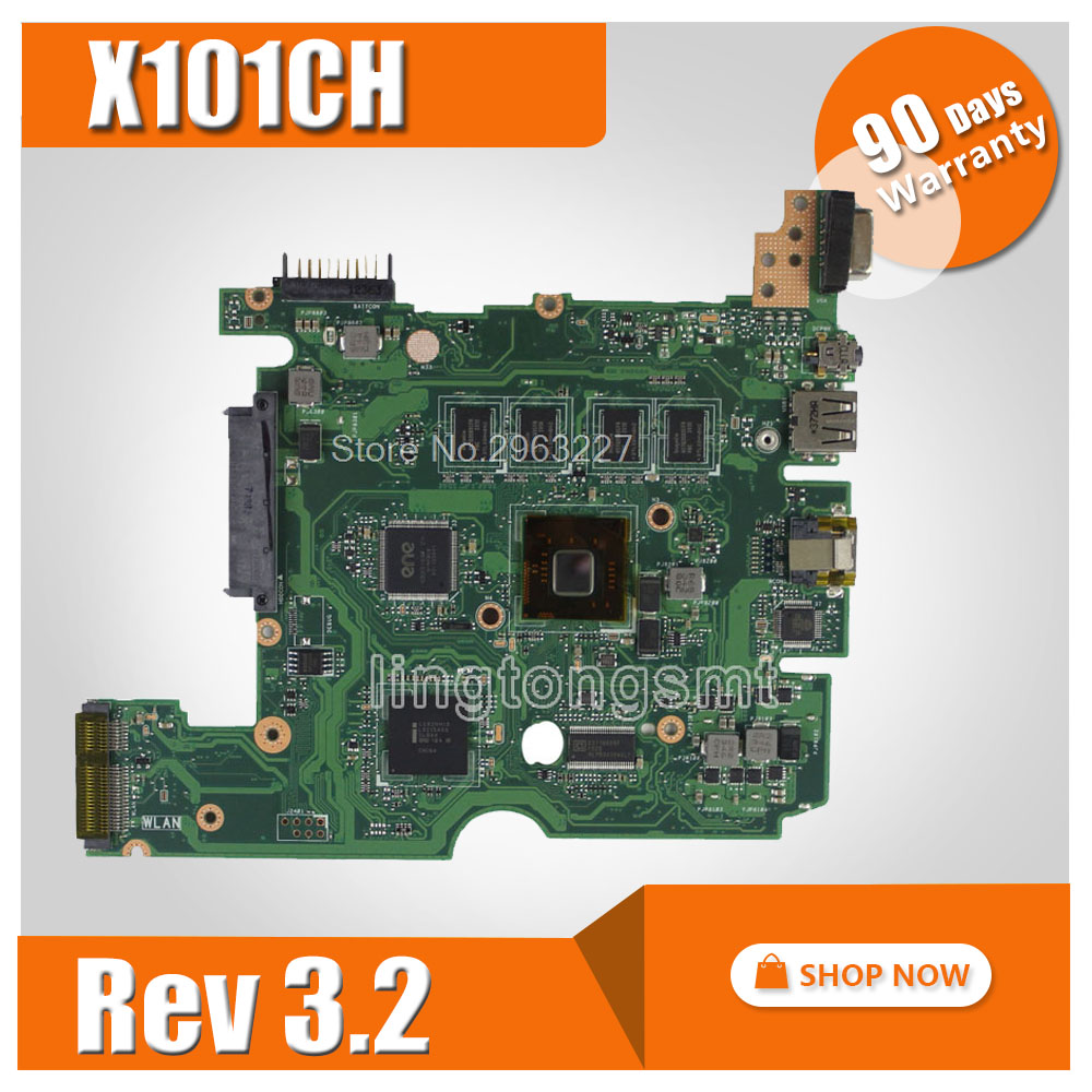 X101CH Motherboard REV3.2/2.3 1GB For ASUS X101CH Laptop motherboard X101CH Mainboard X101CH Motherboard test 100% OK hot selling for asus x101ch laptop motherboard x101ch mainboard rev3 2 2gb on board memory 100% test