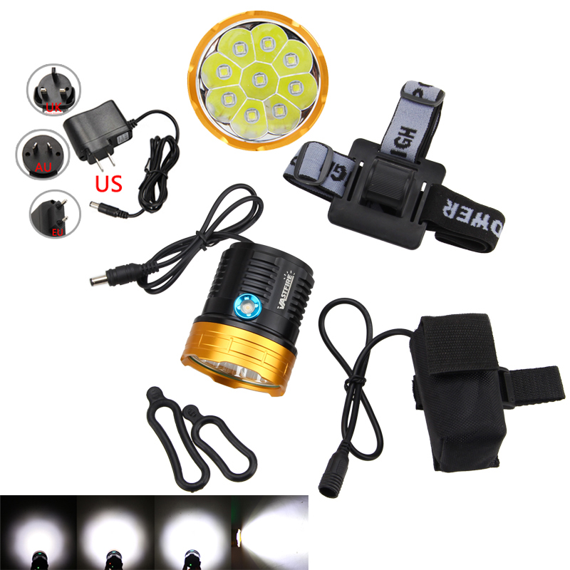 20000Lumen Front Bicycle 8.4-12V Lamp light Headlamp Cycling Bike 20000 lumens WHITE Waterproofing 9x XML L T6 LED bike light x2 5000 lumen light bicycle lamp 2x cree xml u2 led bicyclelight bike headlamp battery pack charger