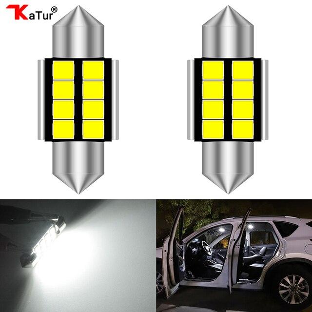 2pcs 1.25'' 31mm DE3175 DE3021 DE3022 6428 7065 LED Festoon Car Interior Lights 2835 Chipsets Aluminum CanBus Error Free Car Led
