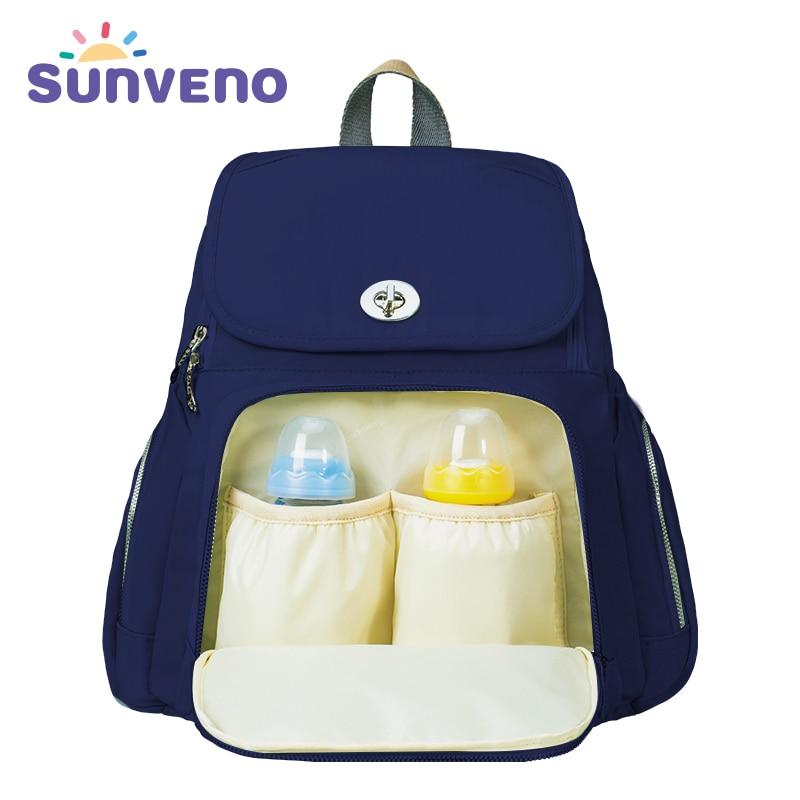 2018 Sunveno Fashion Mummy Maternity Baby Diaper Backpack Nappy Bag Designer Nursing Bag for Baby Care