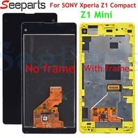 For SONY Xperia Z1 Compact LCD Display Touch Screen Digitizer Assembly Replacement M51w D5503 For SONY Z1 Compact Display 4.3