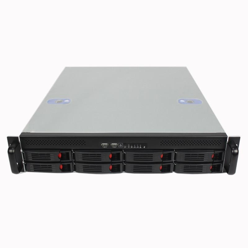 все цены на  2U550MM 8 HDD plate hot plug server computer case 550MM rack server short design Chassis  онлайн