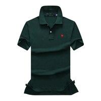 9b9bf53873283d ... Merken 2018 Mannelijke Korte Mouwen Casual Slim Effen Kleur Herten  Borduurwerk Polos Mannen Zwarte man shirt p811. US  13.90 US  13.21. Mens Polo  Shirt ...