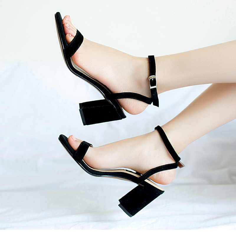 ORATEE Fashion Ankle Strap Women Casual Sandals Open Toe Summer High Heel Shoes Buckle Ladies Office ORATEE Fashion Ankle Strap Women Casual Sandals Open Toe Summer High Heel Shoes Buckle Ladies Office Work Sandalias Shoes