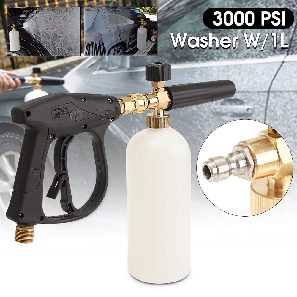 The Cheapest Price 1l 3000psi High Quality Foam Gun High Pressure Washer Snow Foam Lance Sewer Brush Fittings Clean Gun Bright And Translucent In Appearance Spray Guns Tools