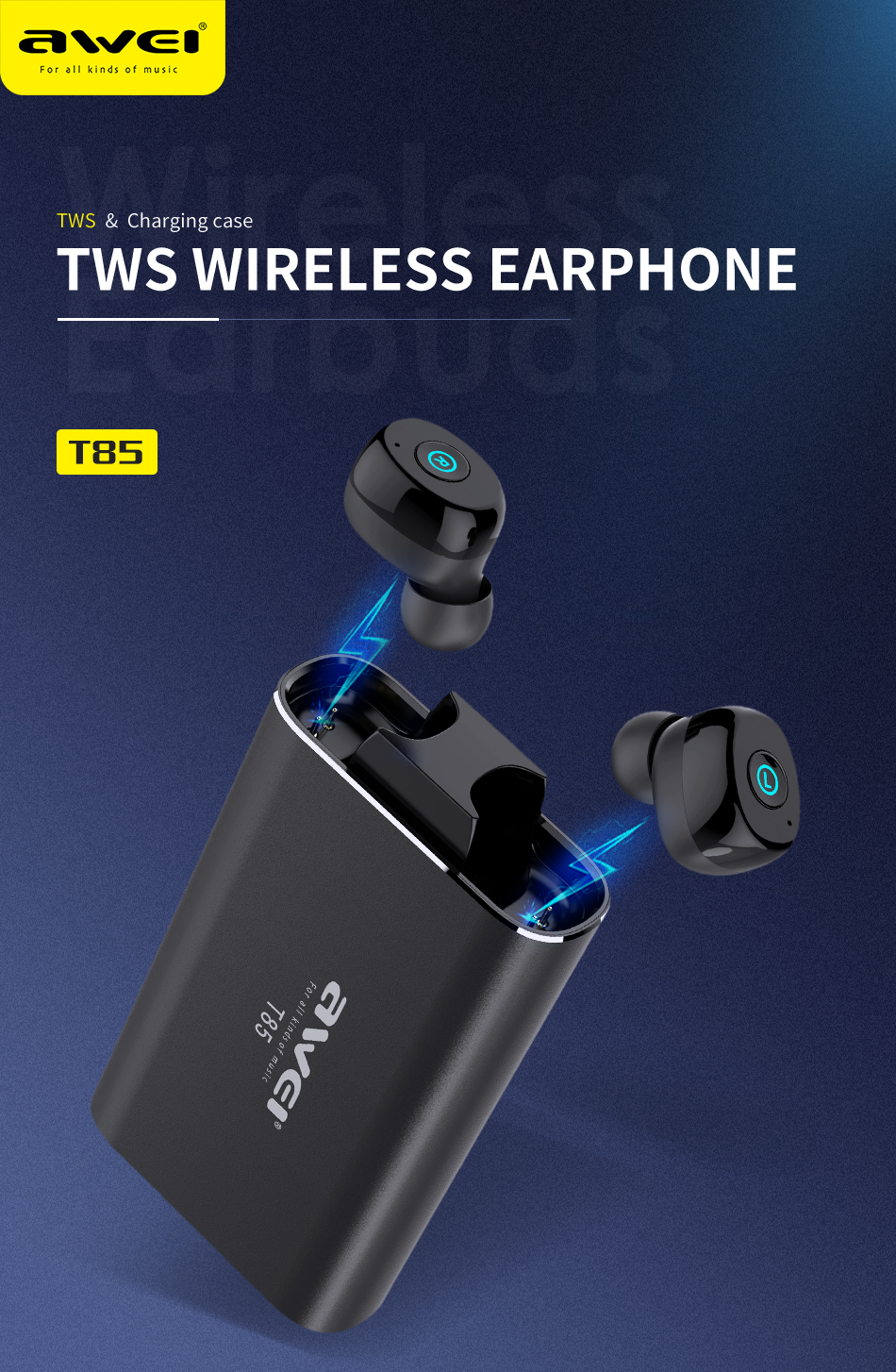 AWEI T85 TWS Wireless