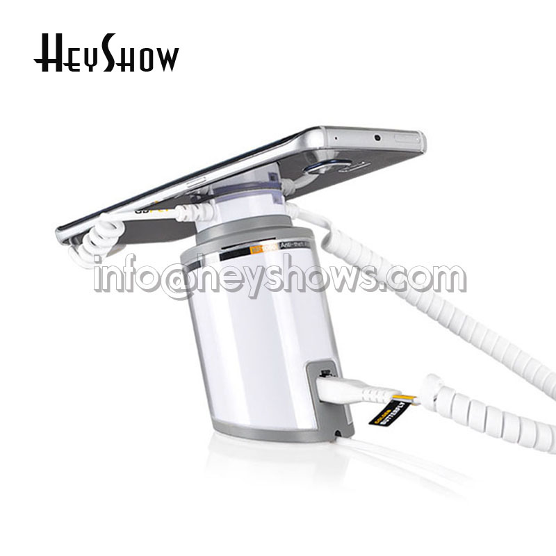 Mobile Phone Security Display Stand Anti Theft Holder For Tablet Alarm System IPhone Burglar Alarm Ipad Display Mount For Retail