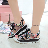 Fashion Summer Women S Sandals Casual Sport Mesh Breathable Shoes 2017 Women Ladies Wedges Sandals Lace