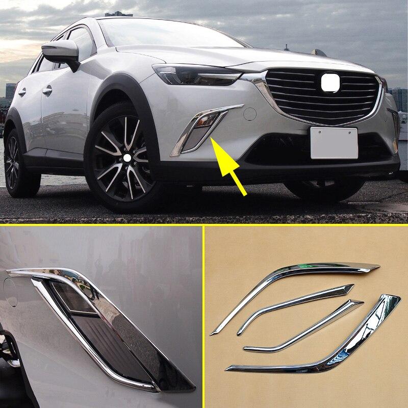 2019 Mazda Cx 3: Aliexpress.com : Buy Front Fog Light Chrome Cover Stripes