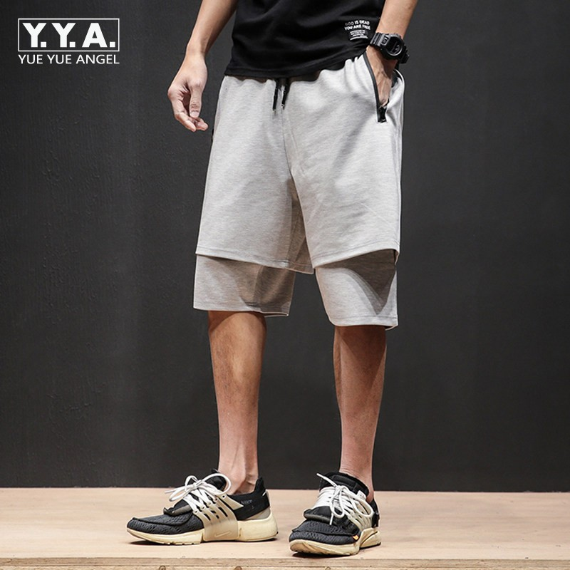 2018 Summer Men Hip Hop Short Pants Drawsting Loose Fit Street Casual Shorts Brand Harem ...