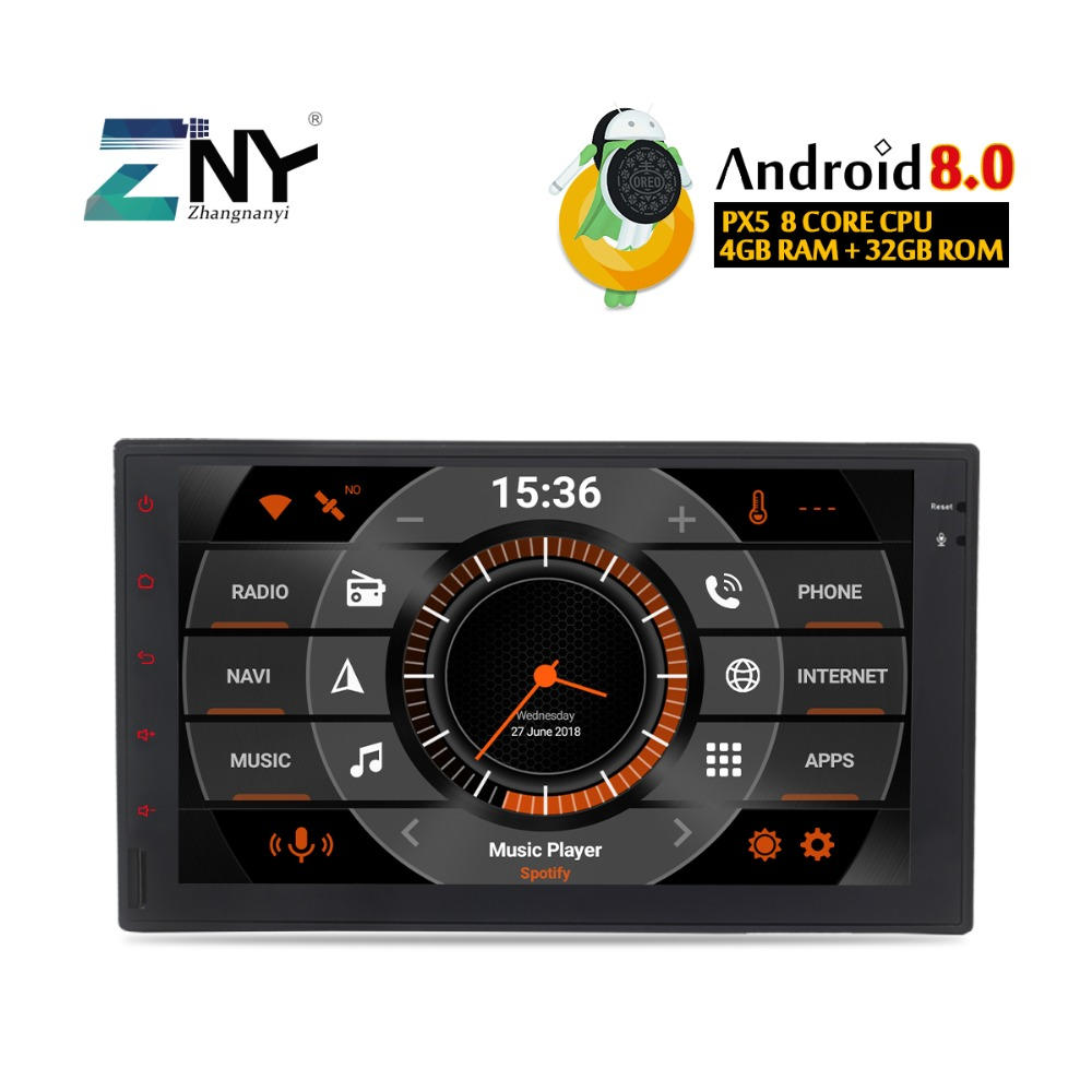 "7"" HD 8 Core Android 8.0 In Dash Two Din Universal Car Stereo Headunit Audio Video Auto Radio FM GPS Navigation Fast Boot No DVD"