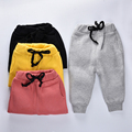 Kid pants 2016 Winter Boys pants solid candy clor Baby harem pants Kids terry elastic waist trousers for Girls Children pants