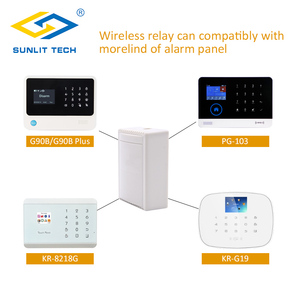 Image 4 - ערוץ 4 מקלט אלחוטי קווית ממסר קשר להמיר אות אלחוטית אזעקה מגנטית Wired