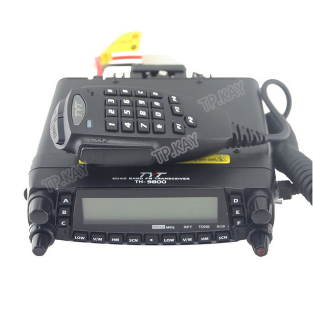 1610A TYT Quad Band Transceiver 10M/6M/2M/70cm VHF/UHF TH-9800 Two Way and Amateur Radio with Programming Cable and Software