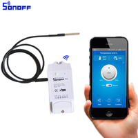 Sonoff TH 10A/16A Smart wifi Switch Controller with Temperature sensor And Waterproof Humidity Monitoring Featur home automation