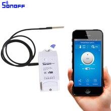 Sonoff th 10A/16A Smart переключатель Wi-Fi контроллер с Температура датчик и Водонепроницаемый влажность мониторинга featur домашней автоматизации