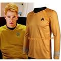 High Quality Star Trek Captain Kirk Cosplay Shirt Kirk Costume Star Trek Yellow Costume
