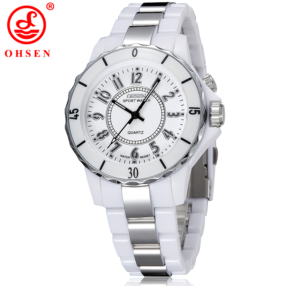 Ohsen Waterproof Women Watches Sport Luxury 7 Multi color Led Back Light Clock Brand Wrist Watch