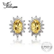 Jewelrypalace 1.5ct óvalo natural citrino stud pendientes plata de ley 925 encantos de la joyería de princesa diana kate boda pendientes