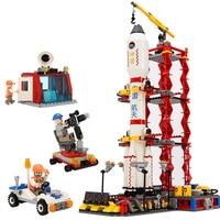 8815 City Spaceport Space Shuttle Building Block Sets 679pcs Space Center DIY Bricks Educational Classic Toys For Children
