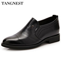 Tangnest Brand Men Oxford Flats Pu Leather Male S Elevator Shoes Solid Slip On Men Casual