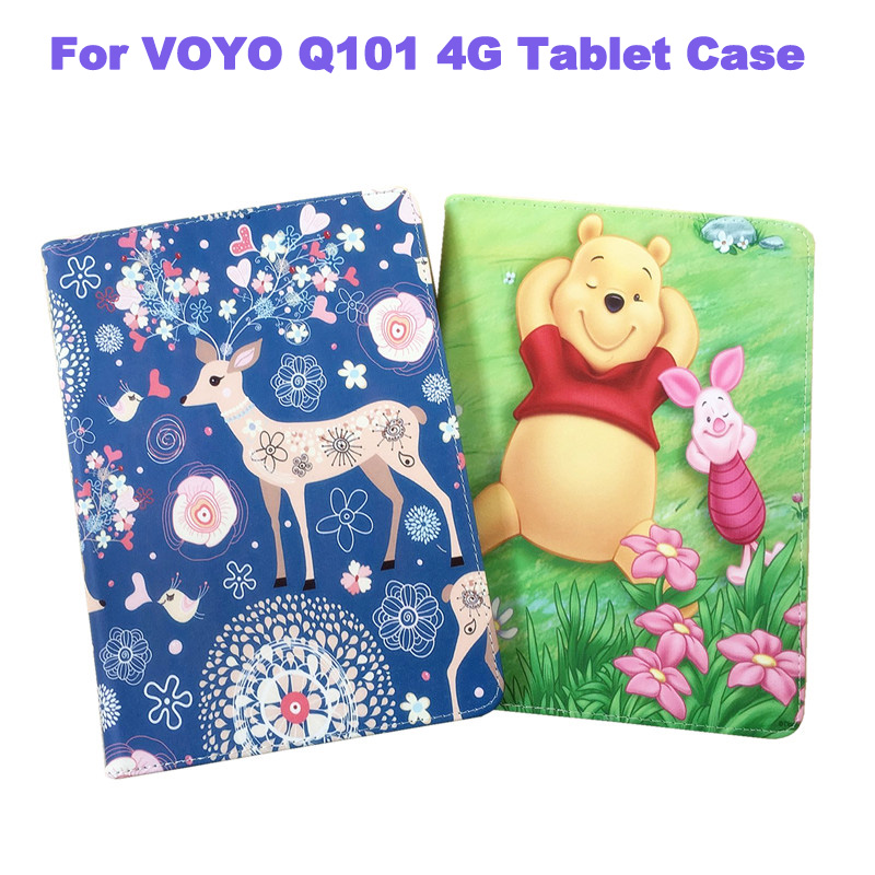 Fashion PU Case for 10.1 inch VOYO q101 4G / I8 Tablet PC for VOYO q101 4G / I8 Case Cover voyo 8 bluetooth 59 key keyboard w pu leather case for voyo a1 mini winpad win8 tablet pc black