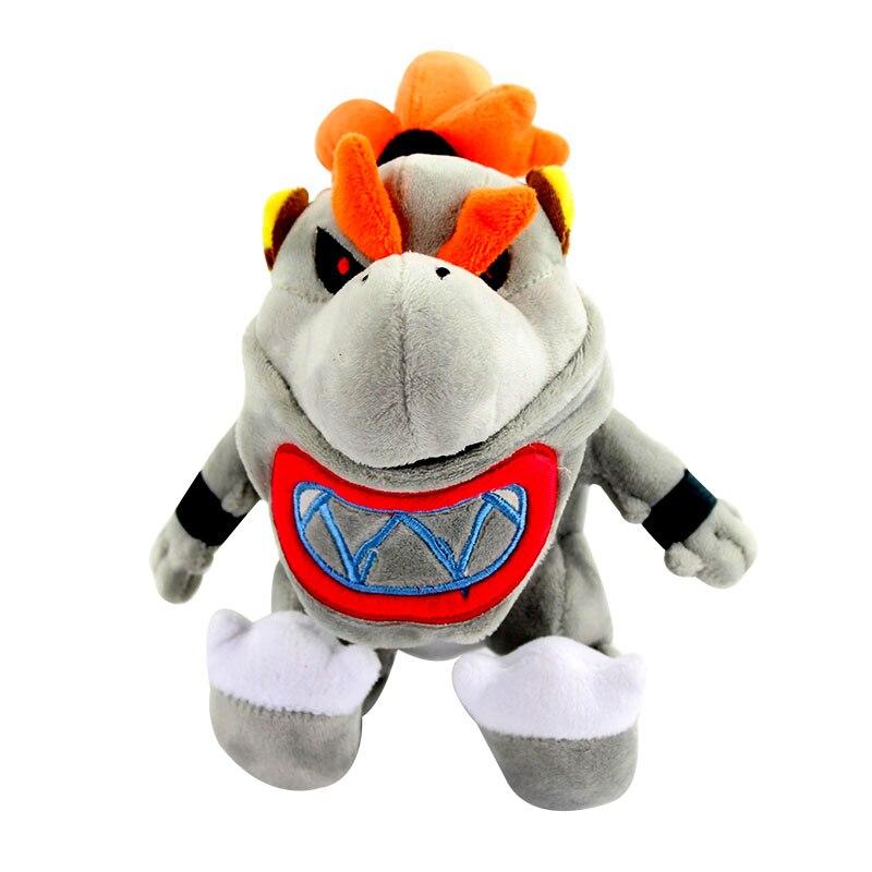 17cm Super Mario Bros Gray King Bones Bowser Jr Koopa Plush Toys Koopa Baby BB Stuffed Soft Dolls(China)