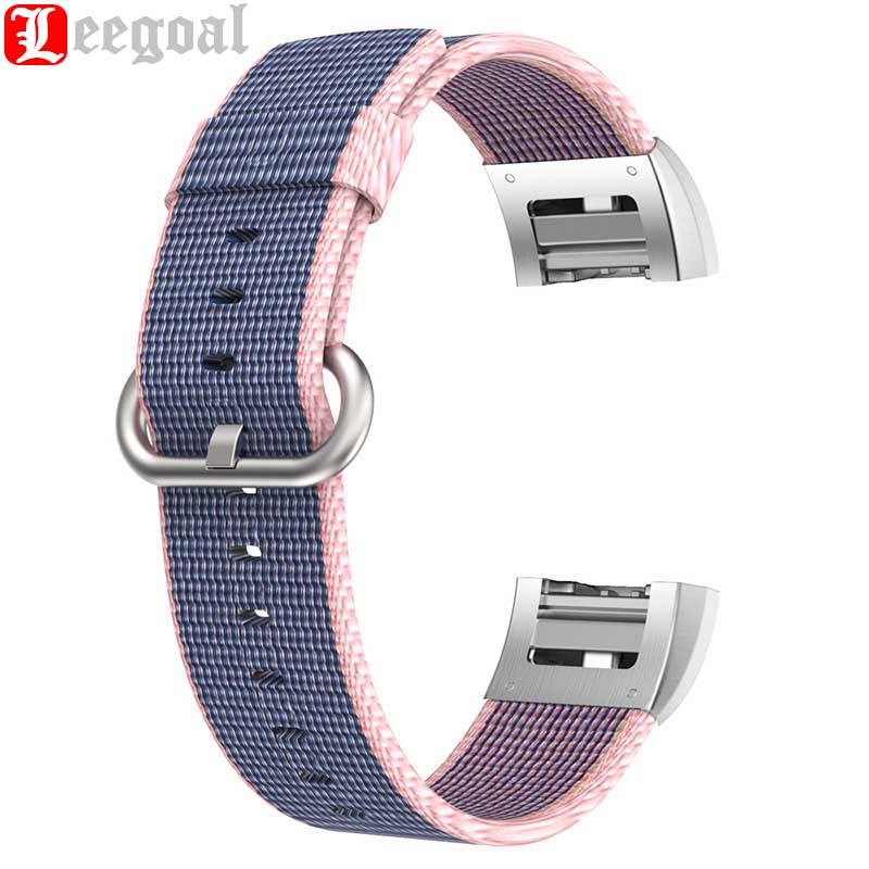 Wrist Strap For Fitbit Charge 2 Adjustable Breathable Woven Nylon Watchband Replacement Sport Strap Band for Fitbit Charge 2 HR