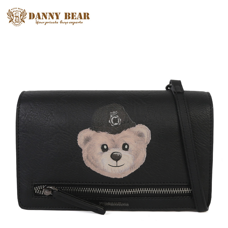 DANNY BEAR Women Small Leather Crossbody Bag Brand Cute Girl Shoulder Bag Fashion Vintage Messenger bag Handbag Bolsa feminina genuine leather studded satchel bag women s 2016 saffiano cute small metal rivet trapeze shoulder crossbody bag handbag