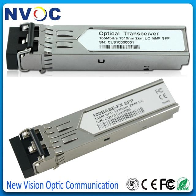 5Pcs/Lot,155M 1310nm,2KM,Multi Mode Dual Fiber,With DDM,LC SFP Fiber Optical Transceiver