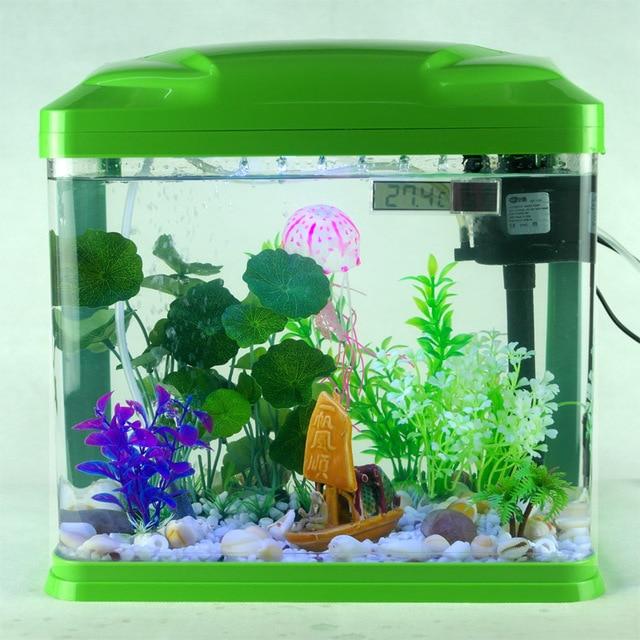 Mini ultra white glass fish tank aquarium ecology of large for Cheap large fish tanks