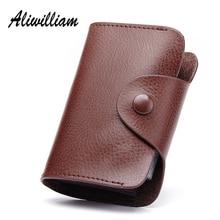 Aliwilliam Mini Men Women Card Holders Genuine Leather 2017 Business Coin font b Purse b font