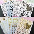 Lotes de Ouro 3D Preto Adesivos Decal Nail Art Dica DIY Decoração Stamping Manicure 8TE4