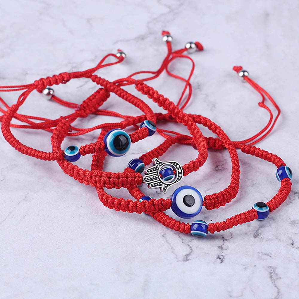 5 สไตล์ถักด้ายสีแดงสร้อยข้อมือดวงตาชั่วร้ายตุรกี String Lucky Hamsa สร้อยข้อมือสำหรับผู้ชายผู้หญิง Brithdays ของขวัญเครื่องประดับ