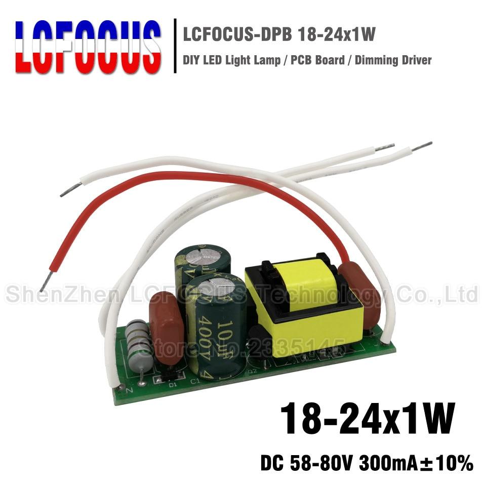 18-24x1W Dimmable LED Driver 18 20 22 24 W Watt Lighting Transformers Power Supply For 18W 20W 22W 24W GU10 E27 Led Tube Lamps runail лампа led а 18 18w